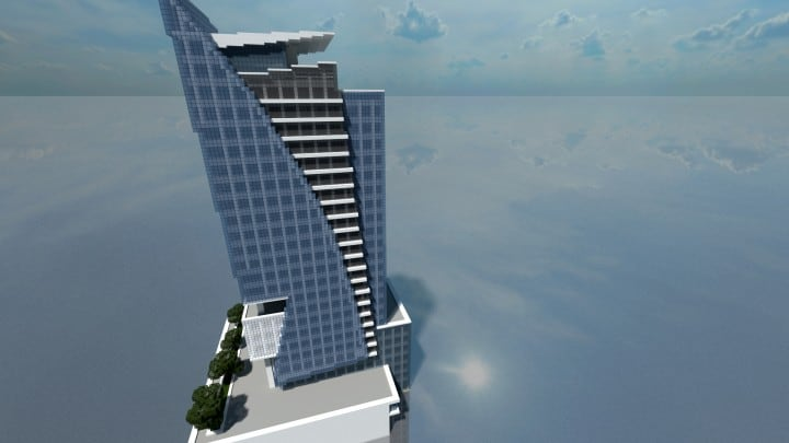 Polaris Minecraft Skyscraper 25 tall future fancy tree building ideas 5