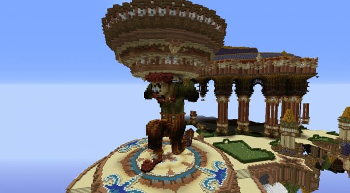 Tralfamador's Amazing Floating Circus minecraft building ideas download save crazy huge 10