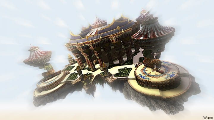 Tralfamador's Amazing Floating Circus minecraft building ideas download save crazy huge 2