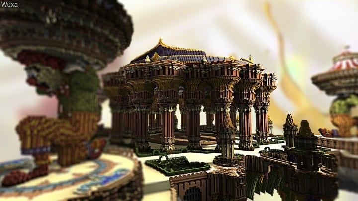 Tralfamador's Amazing Floating Circus minecraft building ideas download save crazy huge 3