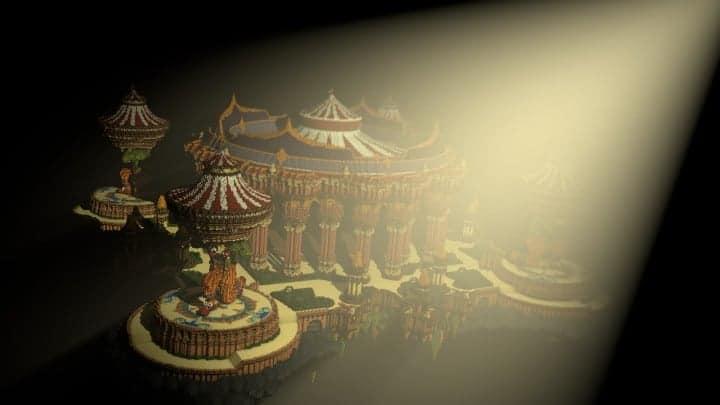 Tralfamador's Amazing Floating Circus minecraft building ideas download save crazy huge 4