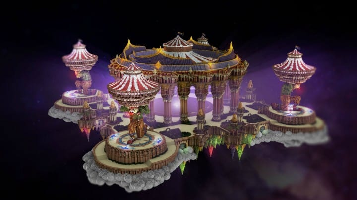 Tralfamador's Amazing Floating Circus minecraft building ideas download save crazy huge 5