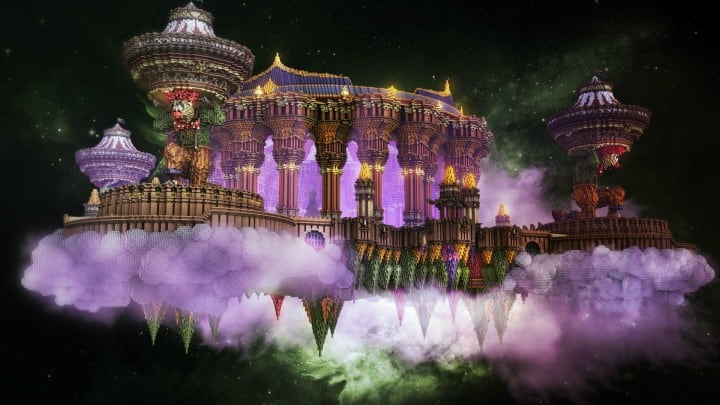 Tralfamador's Amazing Floating Circus minecraft building ideas download save crazy huge 6