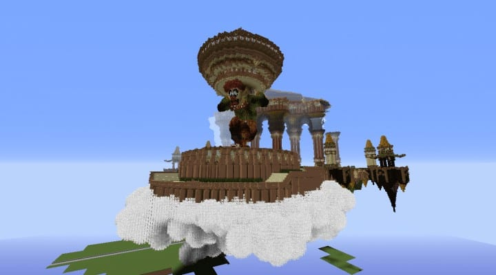 Tralfamador's Amazing Floating Circus minecraft building ideas download save crazy huge 7