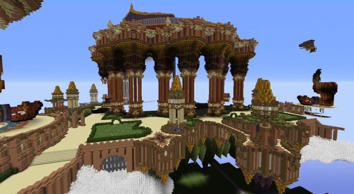 Tralfamador's Amazing Floating Circus minecraft building ideas download save crazy huge 8
