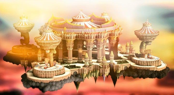 Tralfamador's Amazing Floating Circus minecraft building ideas download save crazy huge