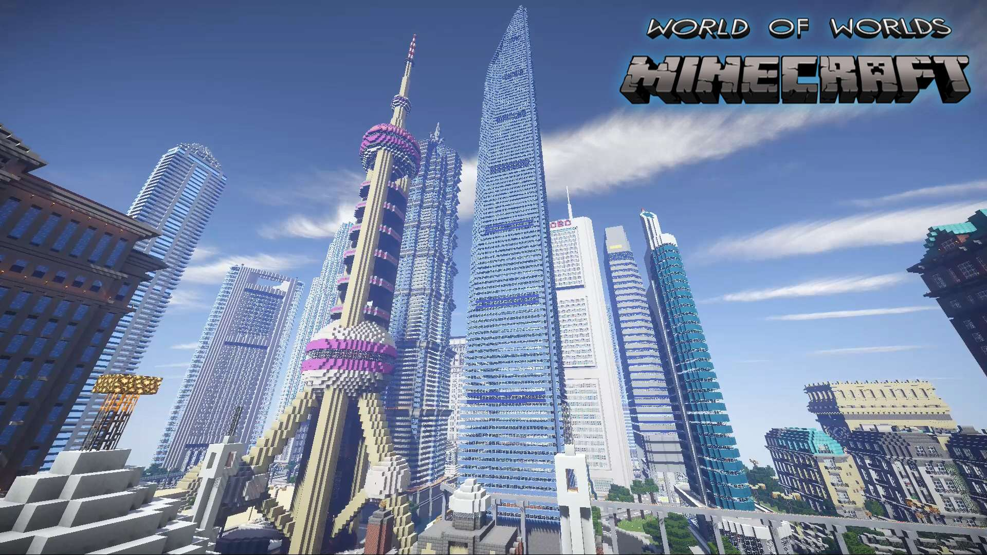 World of worlds minecraft building inc for World s longest video