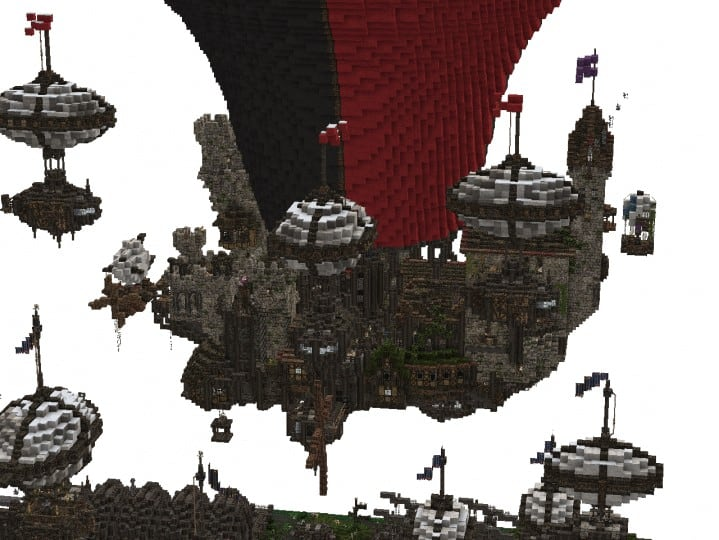 Castle Airborn and its fleet minecraft building downloads amazing floating 6