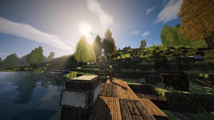 Riverbend Medieval House minecraft cottage build ideas download save terrain 12