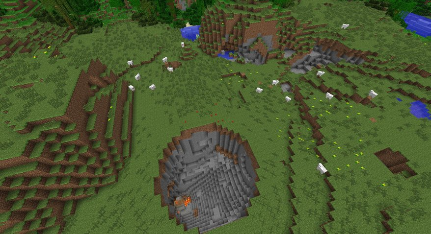 Crazy Crater minecraft seed world funny 1.5 interesting