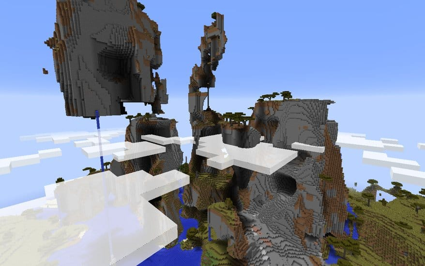 Gorgeous Extreme Hills Minecraft seed mountain 1.8