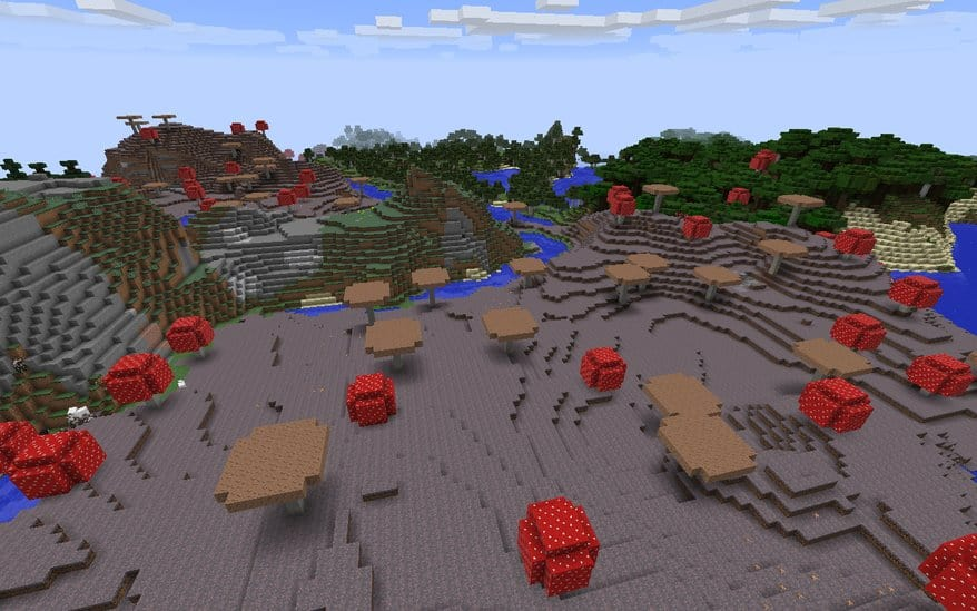 Landlocked Mushroom Biome Minecraft world seed 1.9