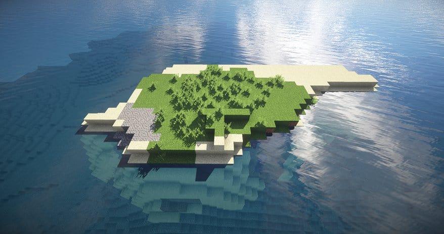 Minimalist Survival Island Minecraft seed water sand 1.8