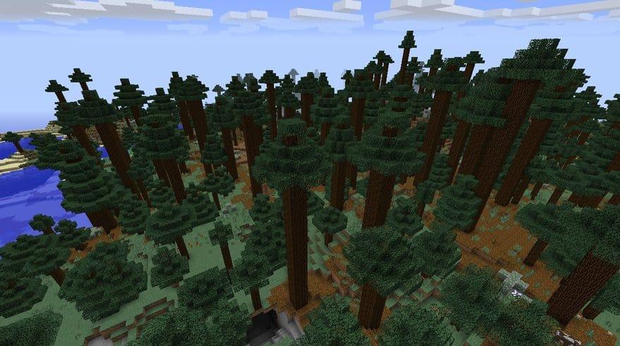 Seaside Mega-Taiga Minecraft seed world 1.8.4