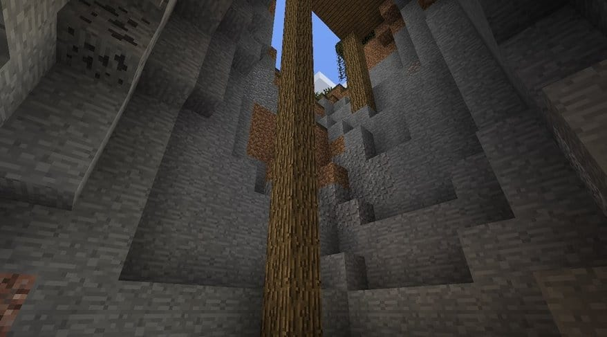 Witch Hut on Stilts 1.8.1 minecraft seed world cave underground dark