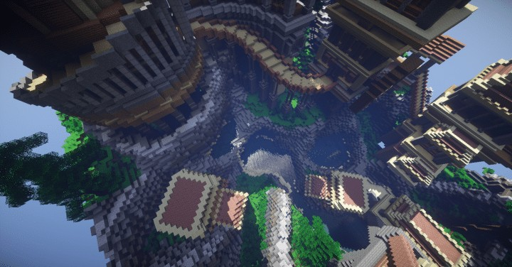 Heatvale Minecraft building ideas inspiration mountains temple fantacy 10