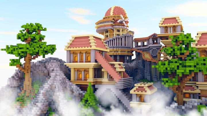 Heatvale Minecraft building ideas inspiration mountains temple fantacy 2