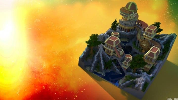 Heatvale Minecraft building ideas inspiration mountains temple fantacy 3