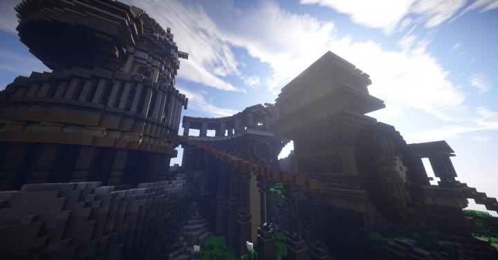 Heatvale Minecraft building ideas inspiration mountains temple fantacy 4