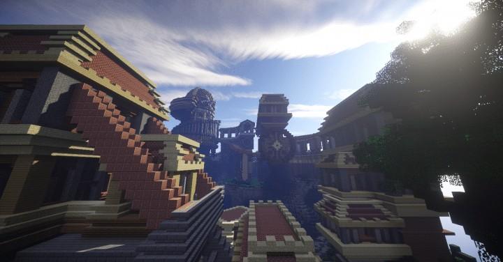Heatvale Minecraft building ideas inspiration mountains temple fantacy 6
