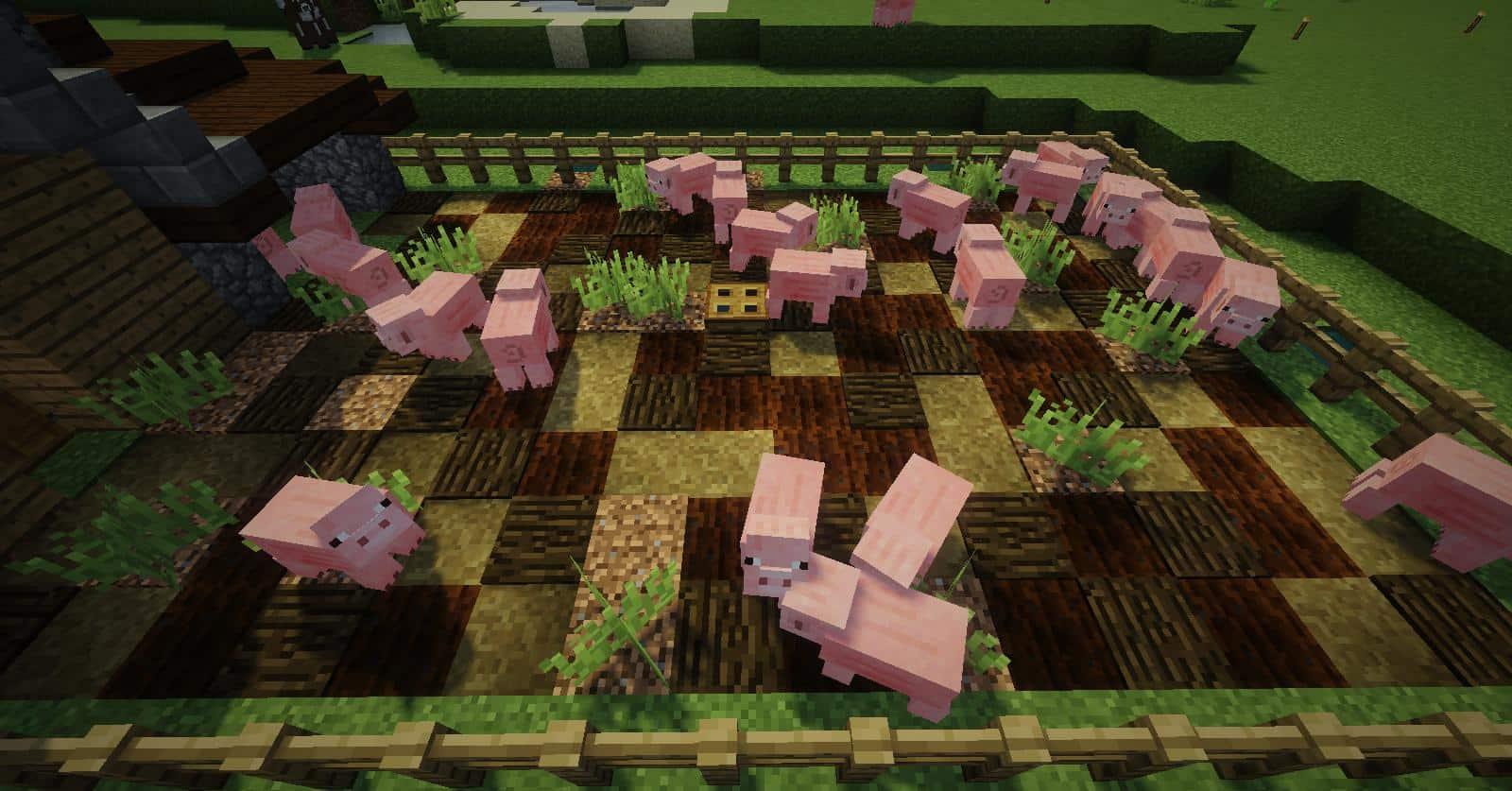 How it looks in vanilla minecraft detail building ideas pig pen farm