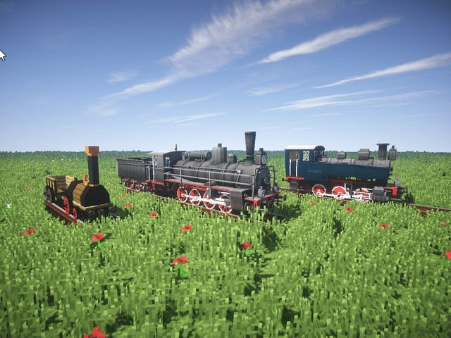 Minecraft Mod Rails of War Realistic tracks and trains models download amazing 2