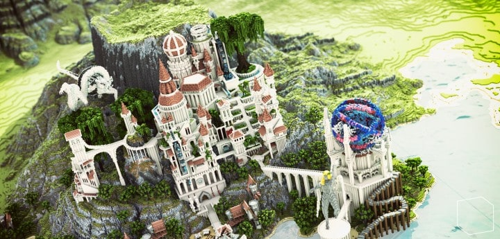 Monument Valley castle terrain download save minecraft building ideas pack 4