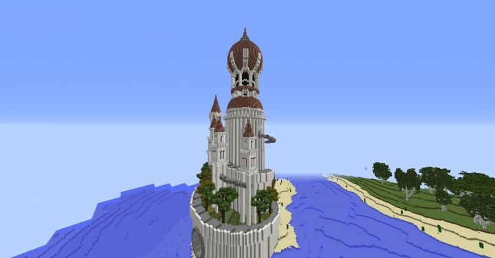 Monument Valley castle terrain download save minecraft building ideas pack 6