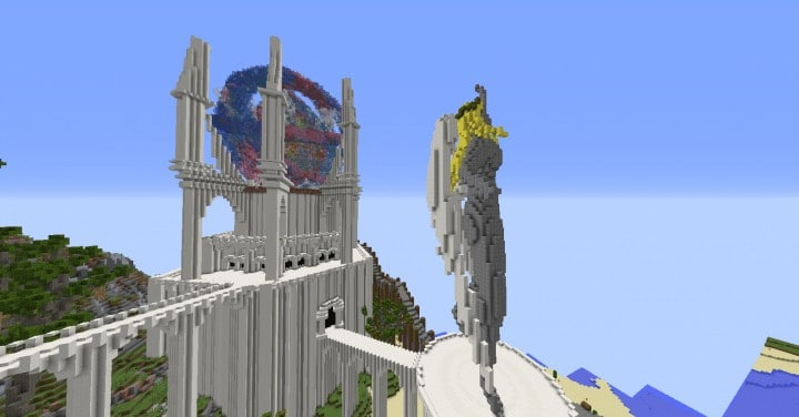 Monument Valley castle terrain download save minecraft building ideas pack 8