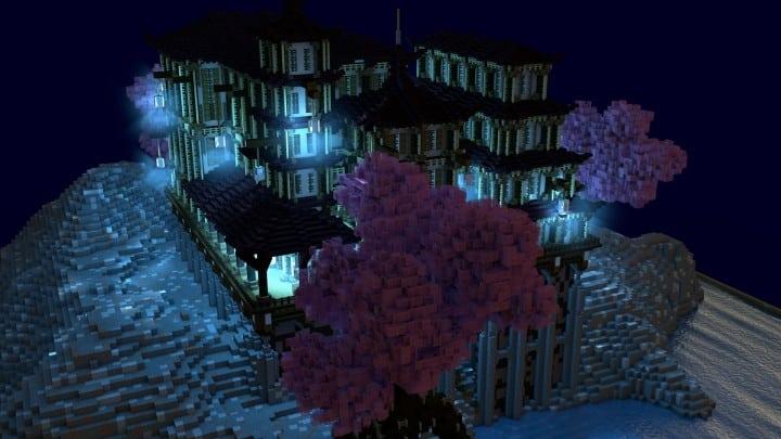 Temple Of Heskara by D34D minecraft building ideas mulit story beautiful trees 2