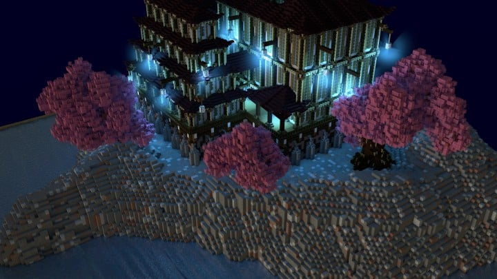 Temple Of Heskara by D34D minecraft building ideas mulit story beautiful trees 3