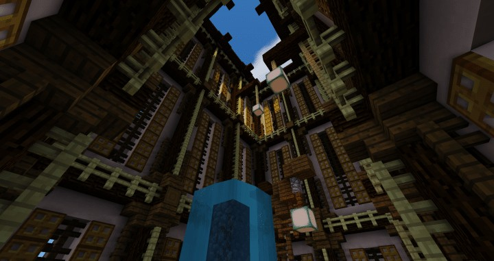Temple Of Heskara by D34D minecraft building ideas mulit story beautiful trees 5