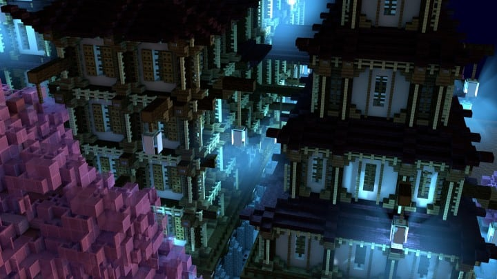 Temple Of Heskara by D34D minecraft building ideas mulit story beautiful trees