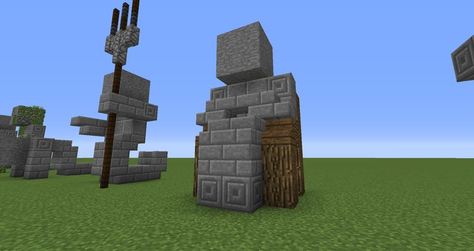 04 - Minecraft small statues for worlds easy to build