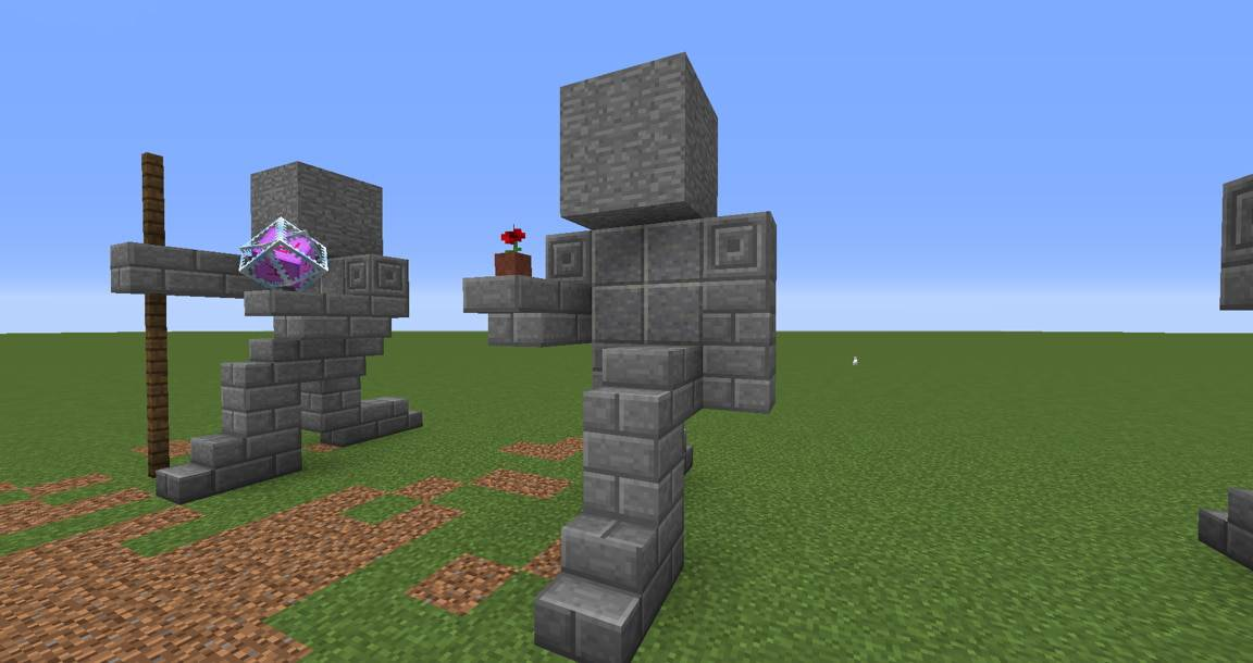 04 - Small Kneeling Statues easy build for miencraft ideas