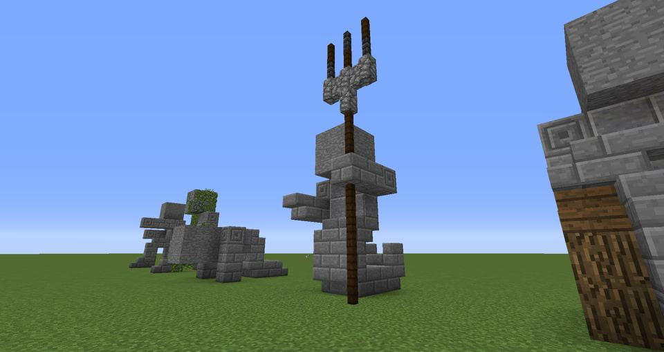 05 - Minecraft small statues for worlds easy to build