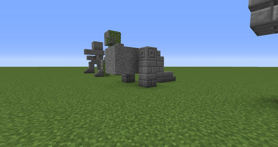 06 - Minecraft small statues for worlds easy to build
