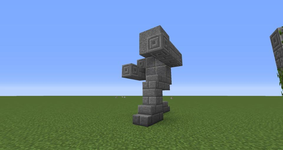 08 - Minecraft small statues for worlds easy to build