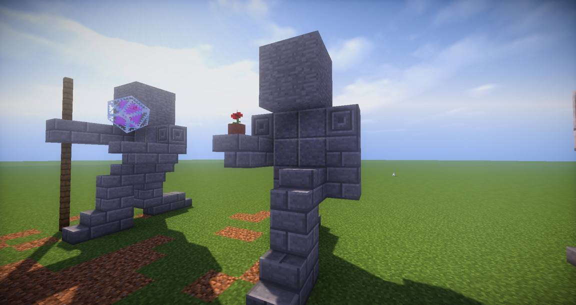 09 - Small Kneeling Statues easy build for miencraft ideas