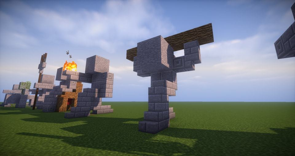 10 - Minecraft small statues for worlds easy to build