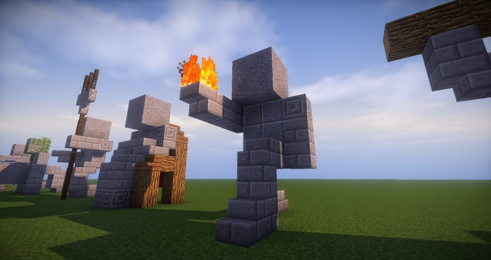 11 -Minecraft small statues for worlds easy to build