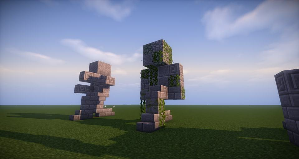 15 - Minecraft small statues for worlds easy to build