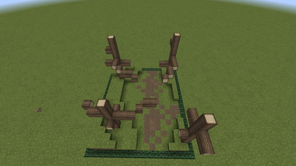 Add tree skeletons minecraft walking trail