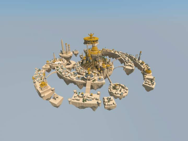 Al-Safir Academy's town homm V Floating Minecraft building ideas castle temple islands amazing crazy 2