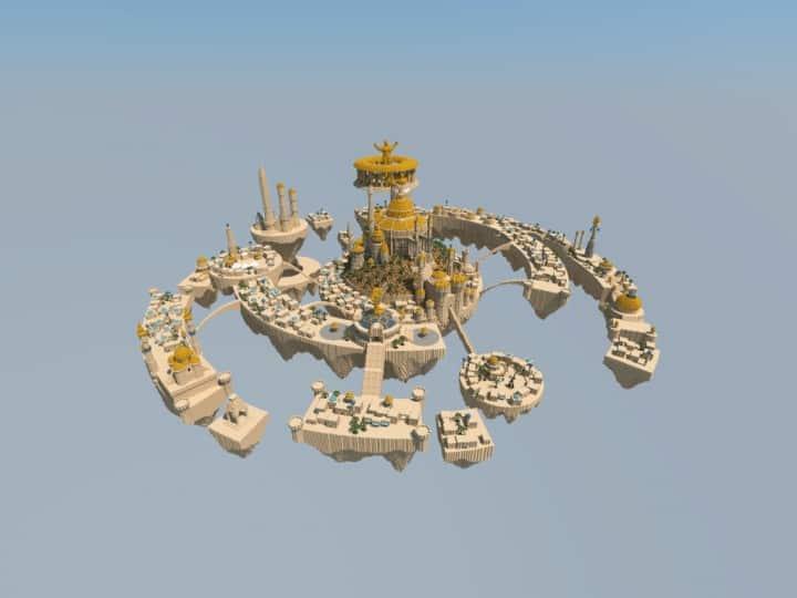 Al-Safir Academy's town homm V Floating Minecraft building ideas castle temple islands amazing crazy 2
