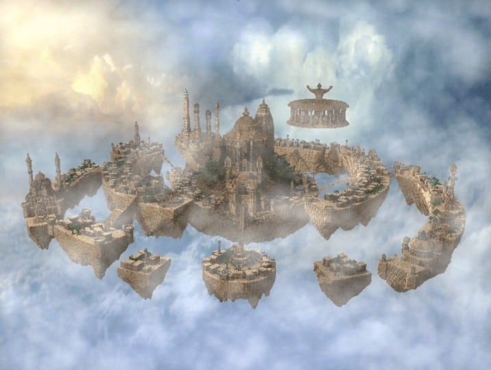 Al-Safir Academy's town homm V Floating Minecraft building ideas castle temple islands amazing crazy 5
