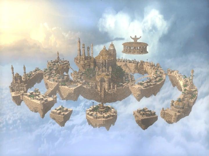 Al-Safir Academy's town homm V Floating Minecraft building ideas castle temple islands amazing crazy