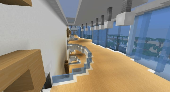 Alleron Convention Center Alleron City Minecraft building ideas amazing office city glass fancy 12