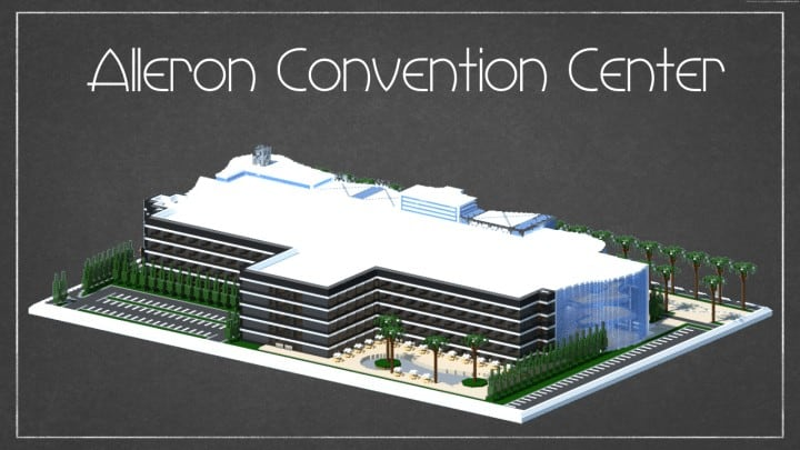 Alleron Convention Center Alleron City Minecraft building ideas amazing office city glass fancy 3