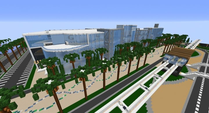 Alleron Convention Center Alleron City Minecraft building ideas amazing office city glass fancy 4